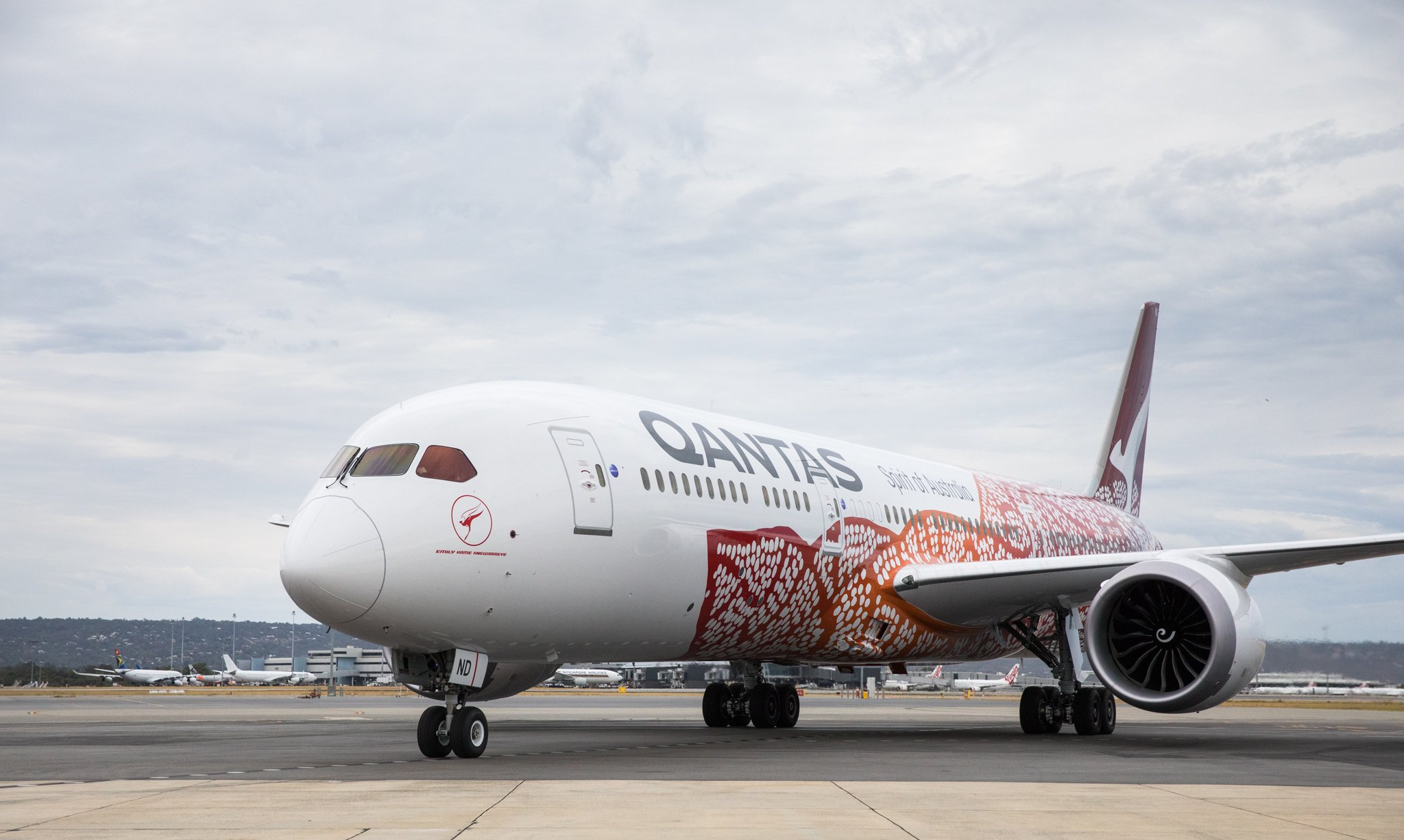 Qantas Airways Boeing 787-9 Dreamliner. Registrering VH-ZMD. (Foto: Qantas)