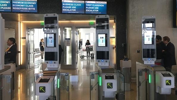 Lufthansa har indført biometrisk boarding til A380 i Los Angeles International Airport. Foto: Lufthansa