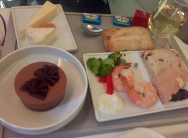 Foie gras er standard i serveringen hos Air France. (Foto: Jens Laursen-Schmidt)