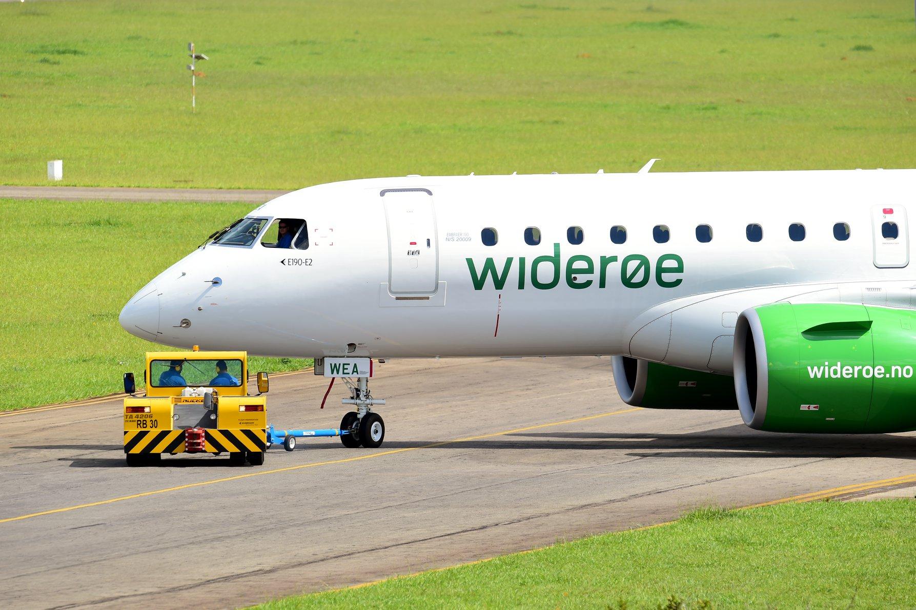 Første Embraer E190-E2 til Widerøe. (Foto: Embraer)