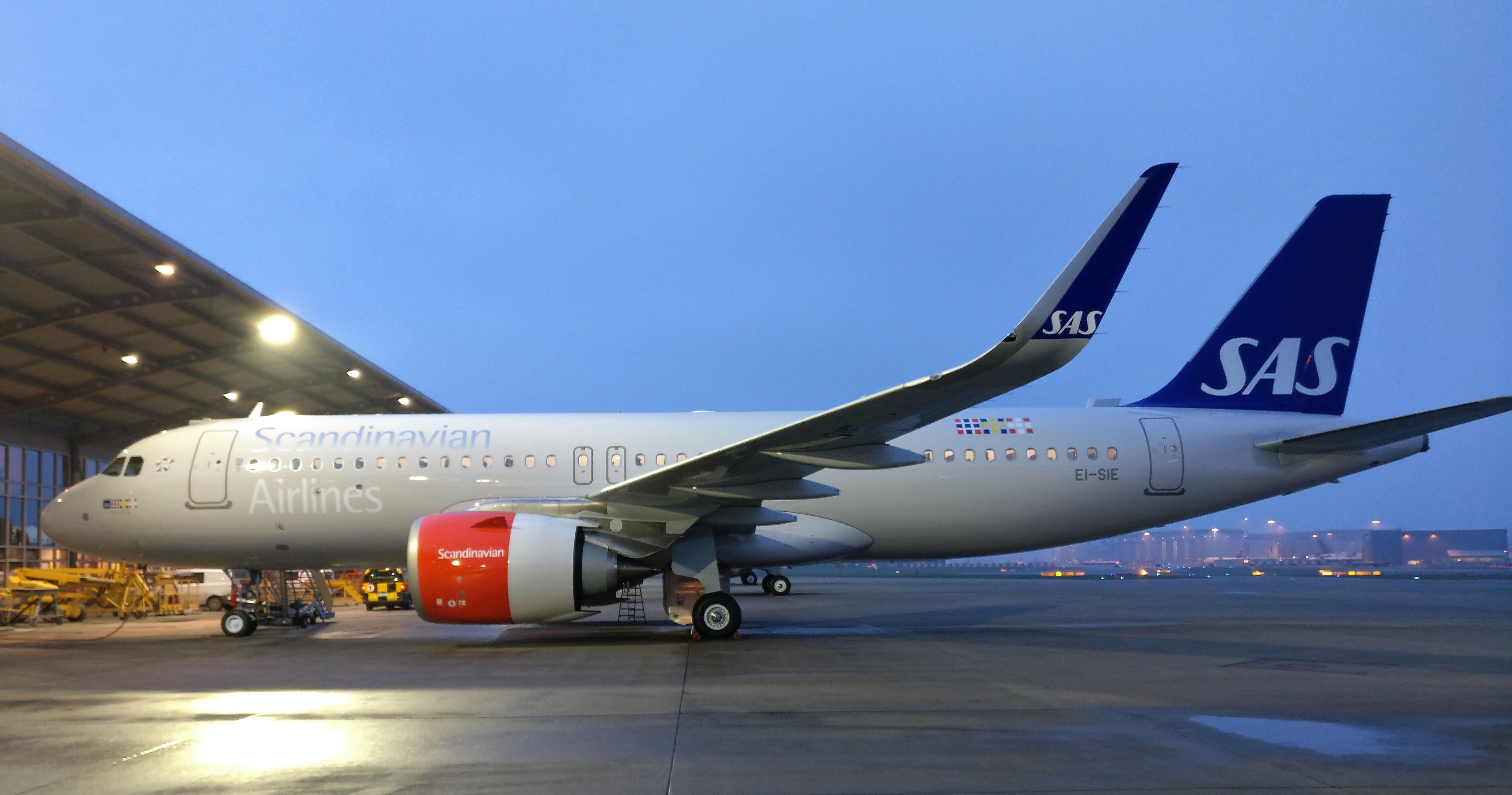 Airbus A320-200neo hos SAS Irland. EI-SIE. (Foto: Scandinavian Airlines Ireland)