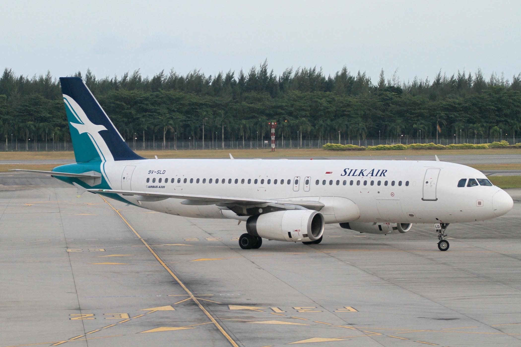 En Airbus A320-200 fra SilkAir i Singapore Changi Airport. Foto: Kentaro Iemoto