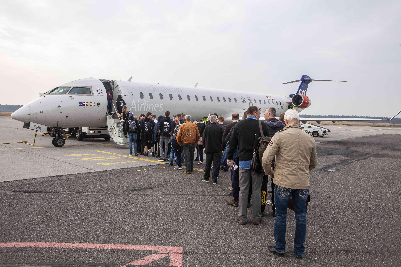 SAS i Aarhus Lufthavn. (Foto: Aarhus Airport)