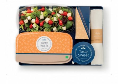 KLM's nye madkoncept på økonomiklasse på interkontinentale ruter ud af Amsterdam.