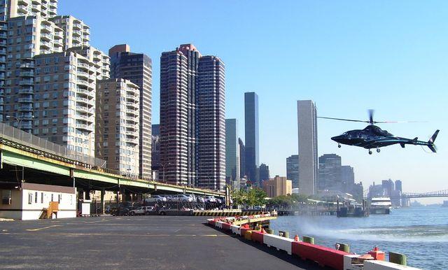 Helipad på Manhattan i New York. (Foto: Wikimedia Commons)