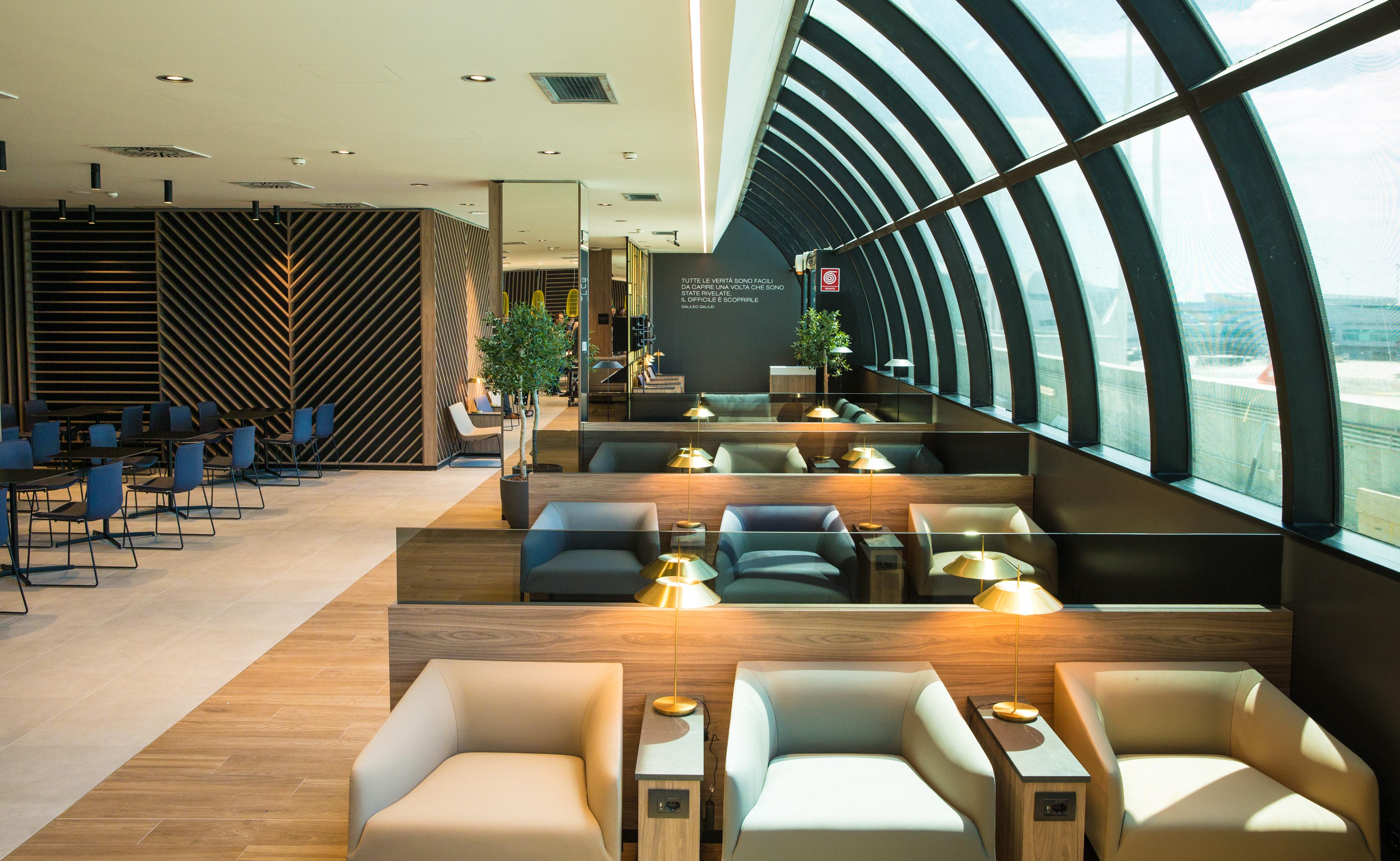 Den nye Star Alliance-lounge i Rom-Fiumicino-lufthavnen. Foto: Star Alliance