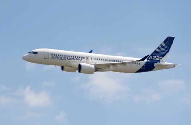 Det tidligere CS300 – nu som Airbus A220-300