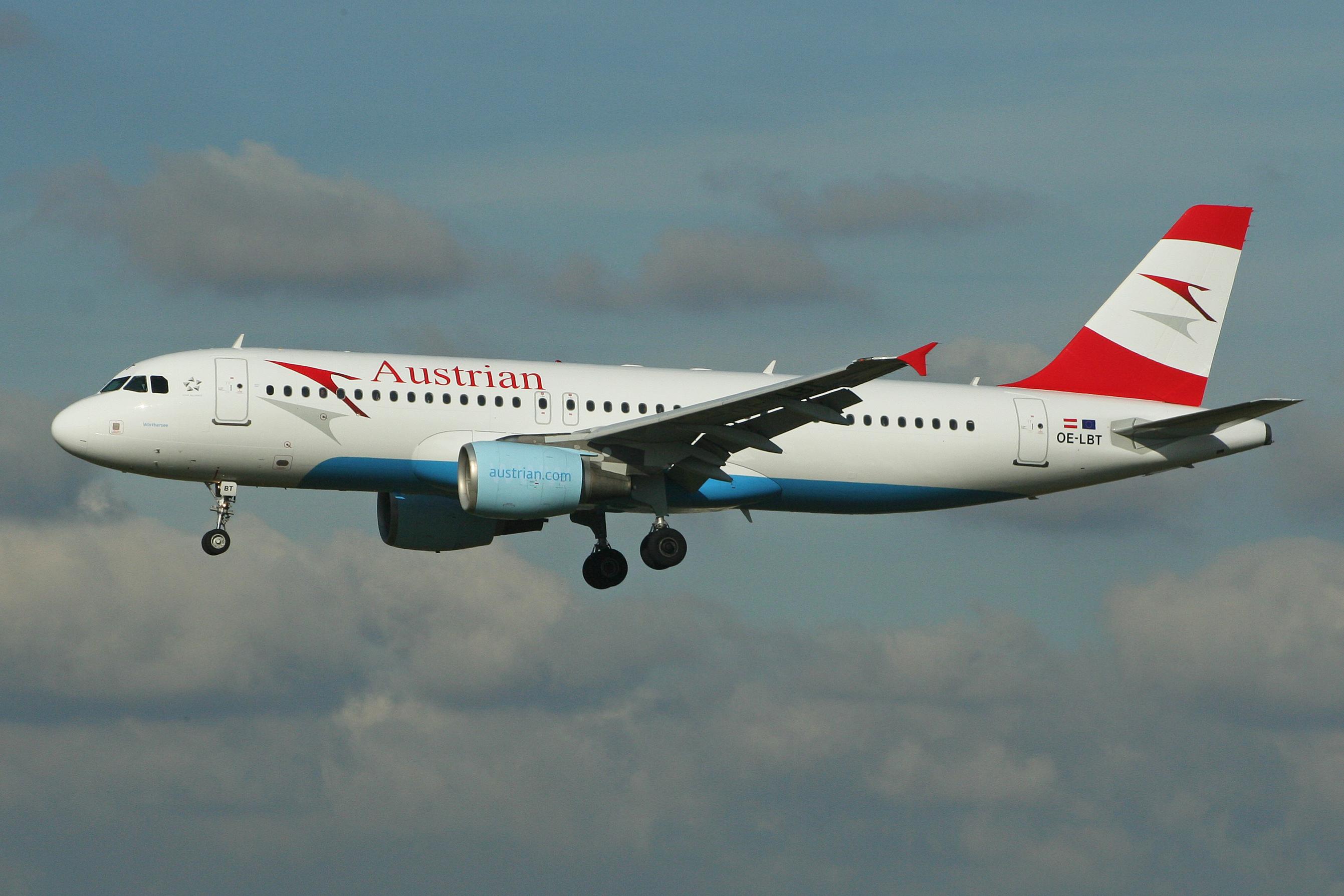 En Airbus A320-200 fra Austrian Airlines. Foto: Alan Wilson