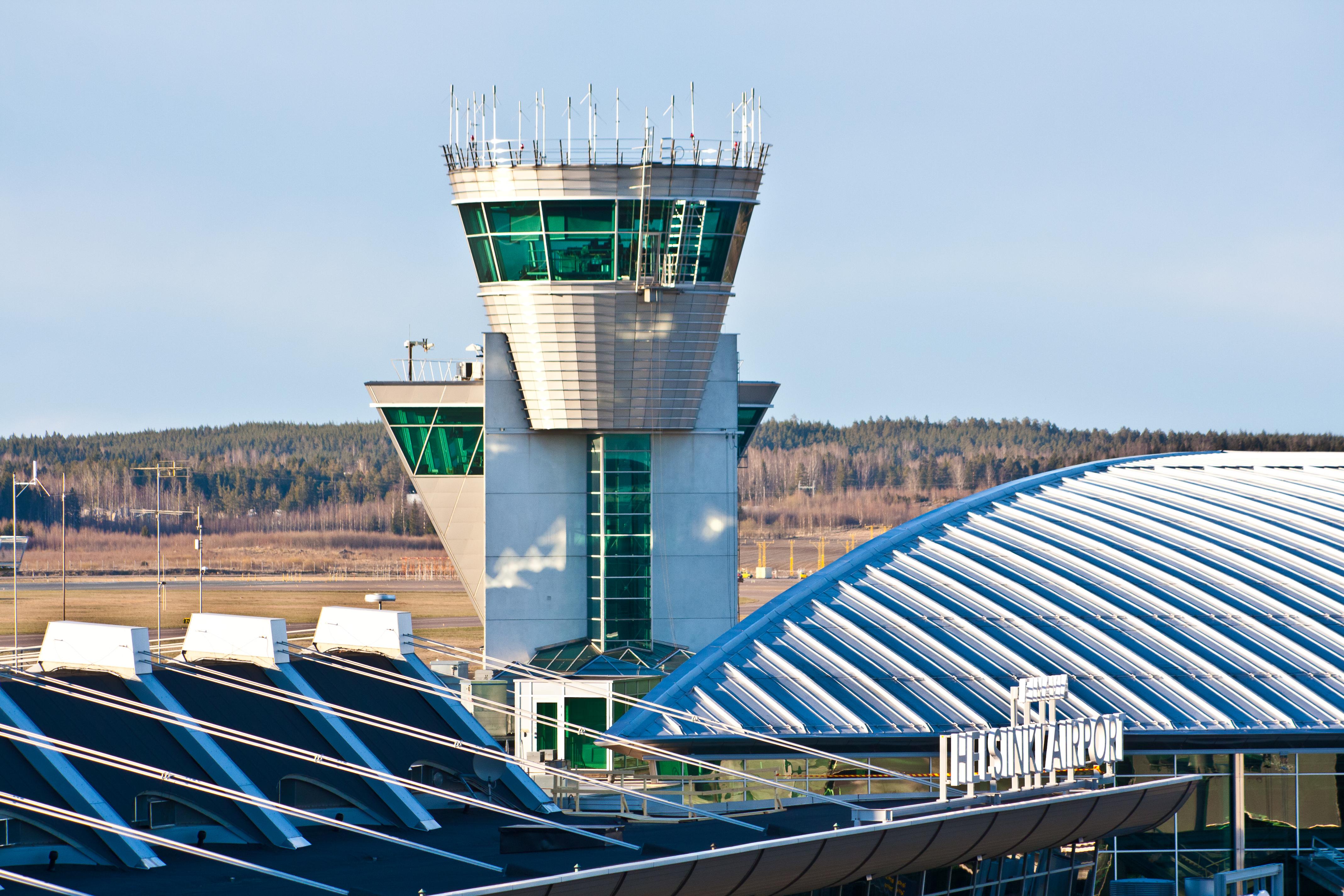 Kontroltårnet i Finavias Helsinki Airport. Foto: Valentin Hintikka