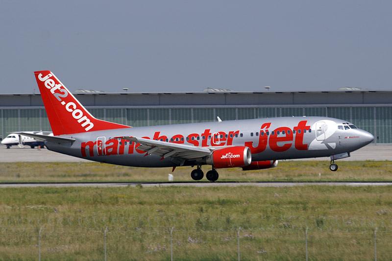 En Boeing 737 fra det britiske lavprisflyselskab Jet2.com. Foto: Juergen Lehle