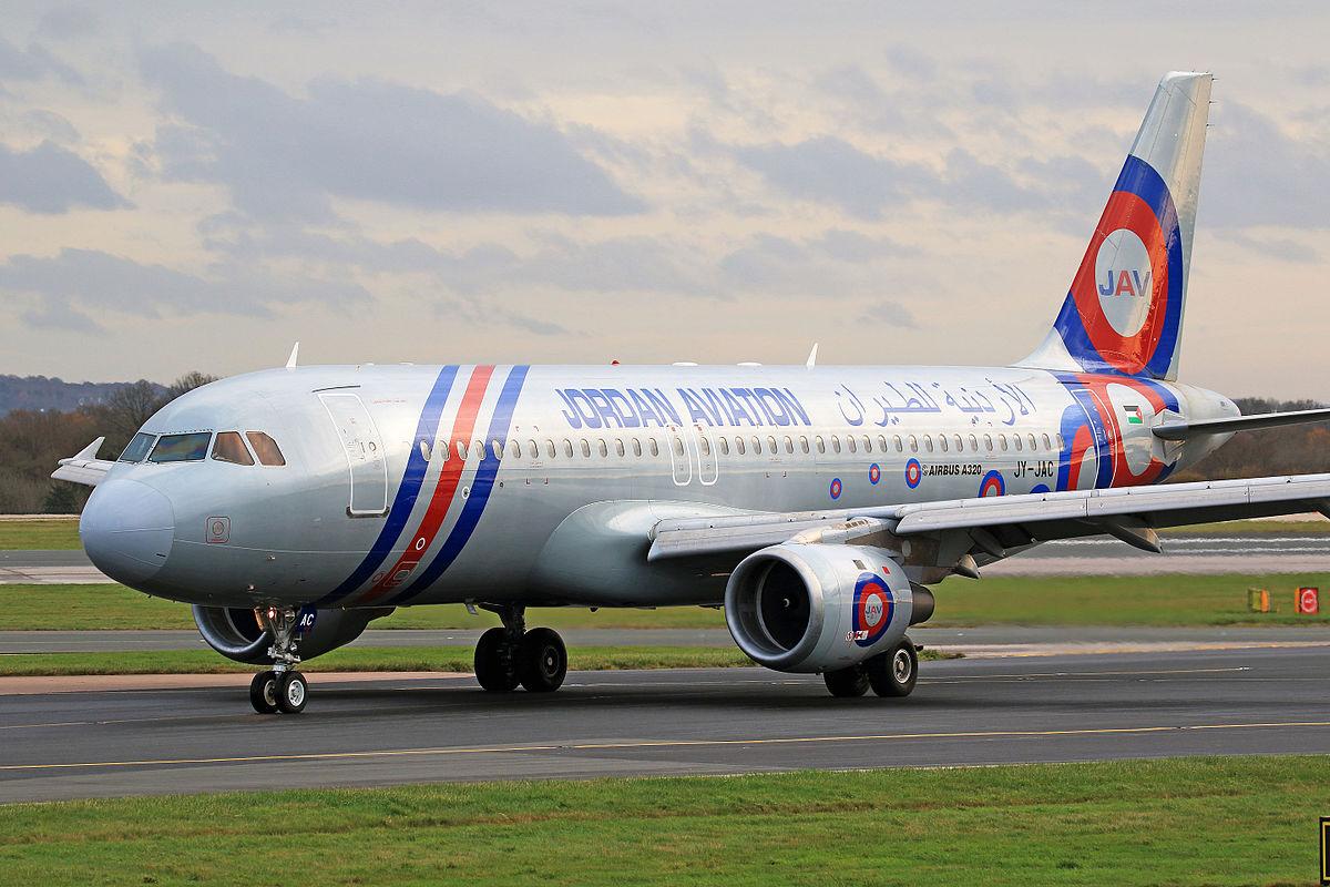 Airbus A320-200 (JY-JAC) fra Jordan Aviation. (Foto: Russell Lee | CC 2.0)