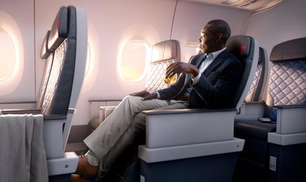 Delta Air Lines Premium Select-kabine. (Foto: Delta Air Lines)
