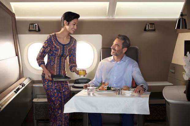 De nye suiter om bord på Singapore Airlines' Airbus A380.