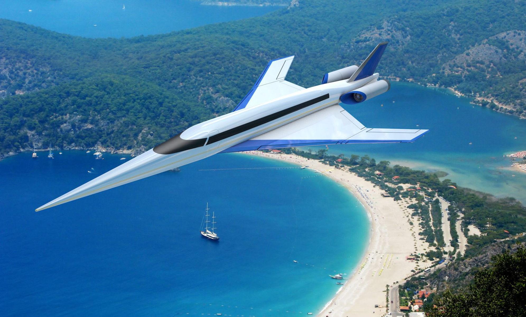 En illustration af det supersoniske fly S-512 fra den amerikanske virksomhed Spike Aerospace. Foto: Spike Aerospace