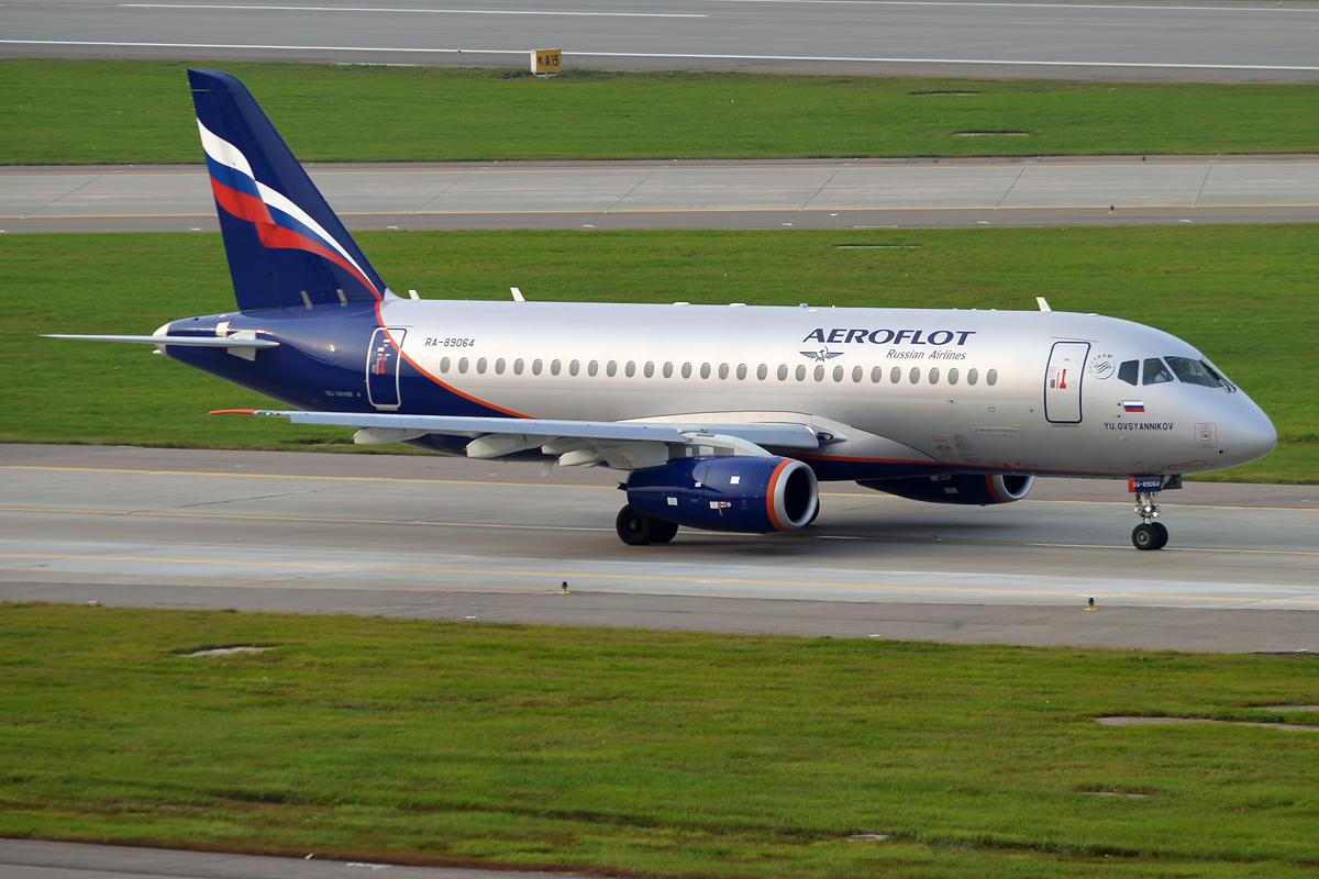 En Sukhoi Superjet 100-95 fra det russiske flyselskab Aeroflot. Foto: Anna Zvereva