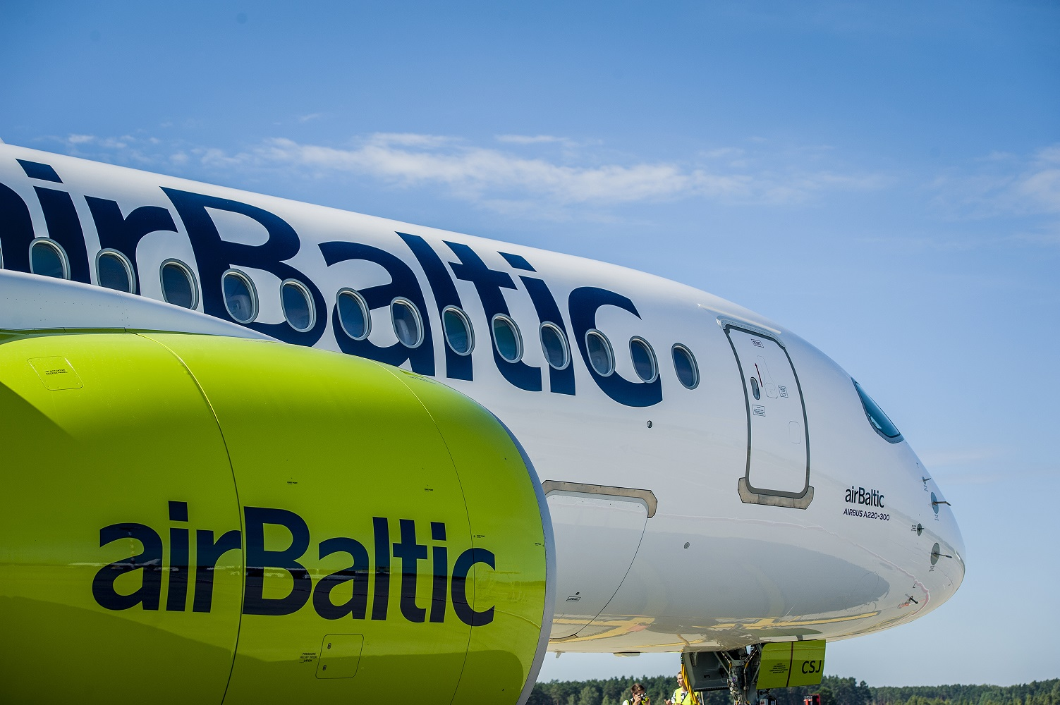 Airbus A220-300 fra airBaltic. (Foto: airBaltic)