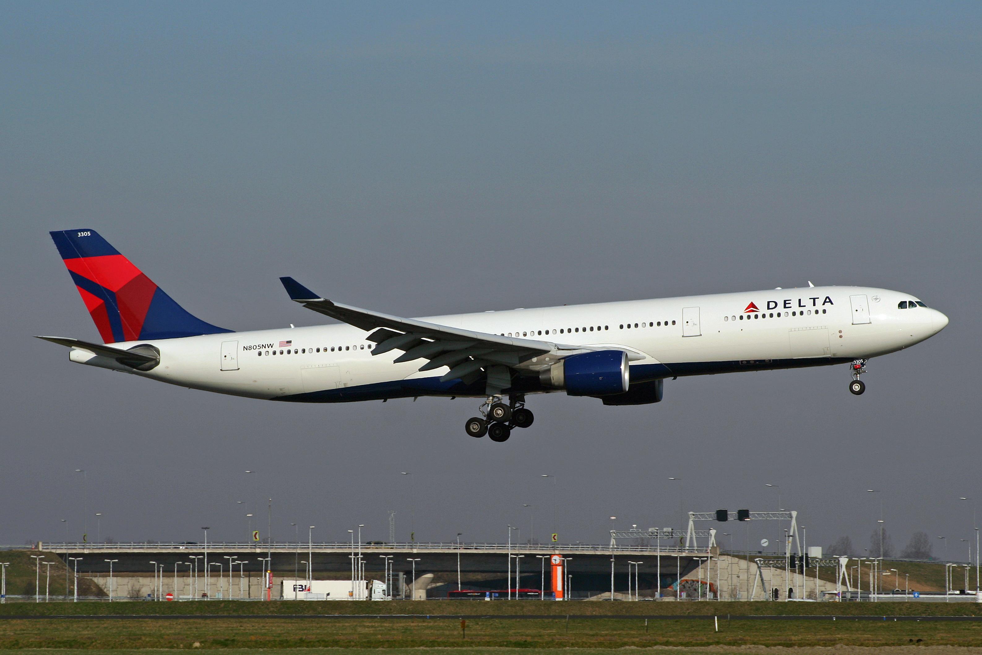 En Airbus A330-300 fra det amerikanske flyselskab Delta Air Lines. Foto: Björn Strey