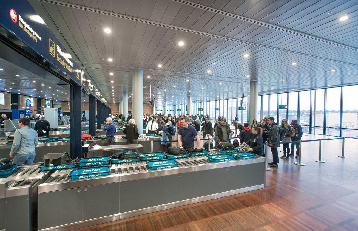 Sikkerhedskontrollen i Københavns Lufthavn har fået automatisk kø-system. Foto: Københavns Lufthavn