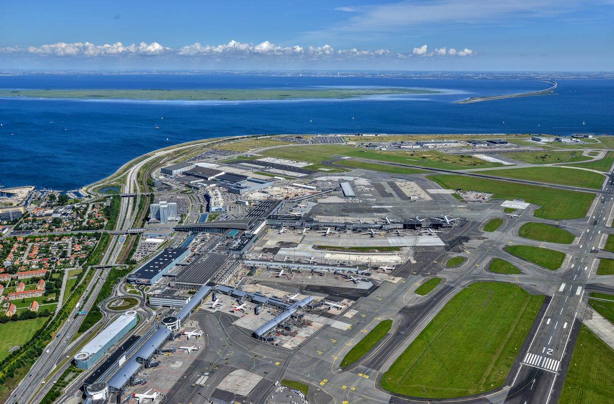 Oversigt over terminalerne i Københavns Lufthavn. Foto: Københavns Lufthavn