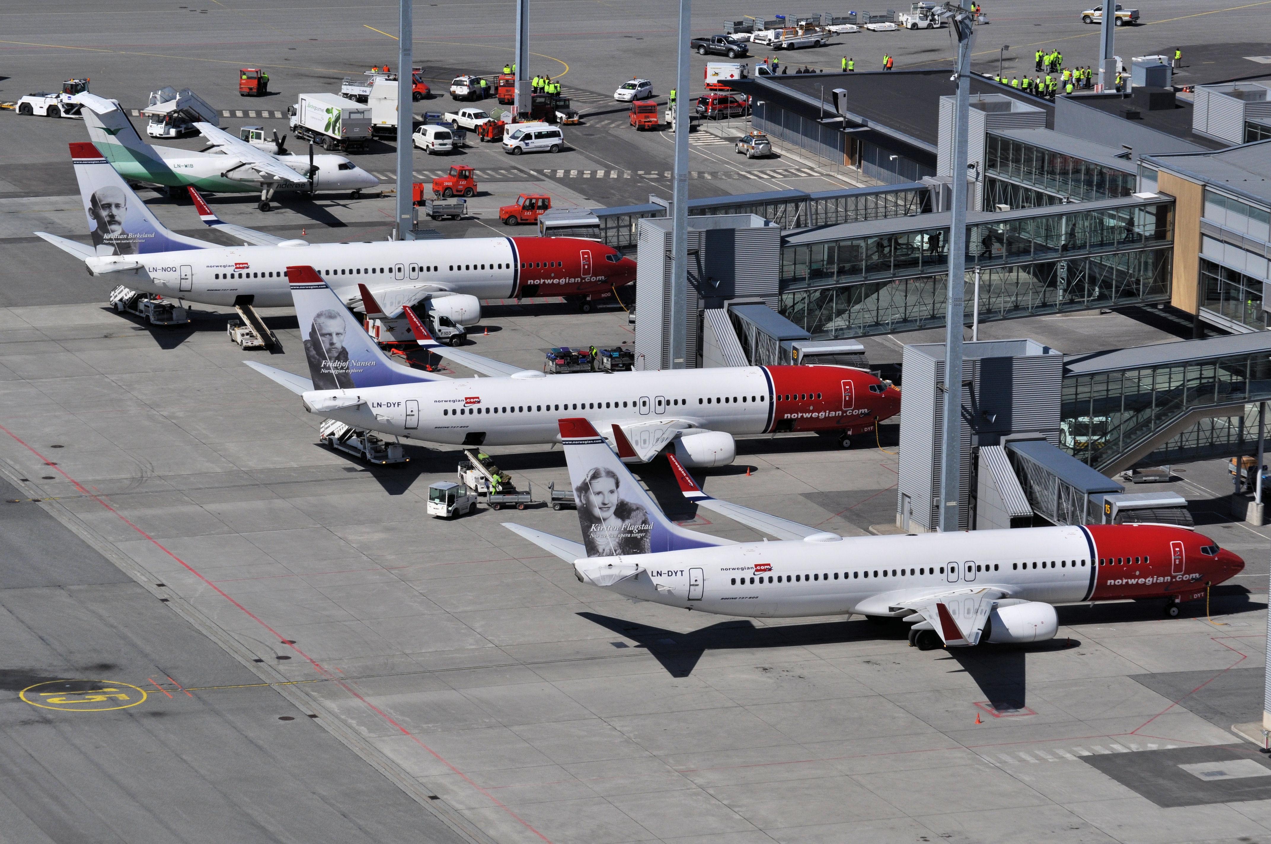 Boeing 737-800 fra Norwegian i Oslo Lufthavn. (Foto: Kristin S. Lillerud)