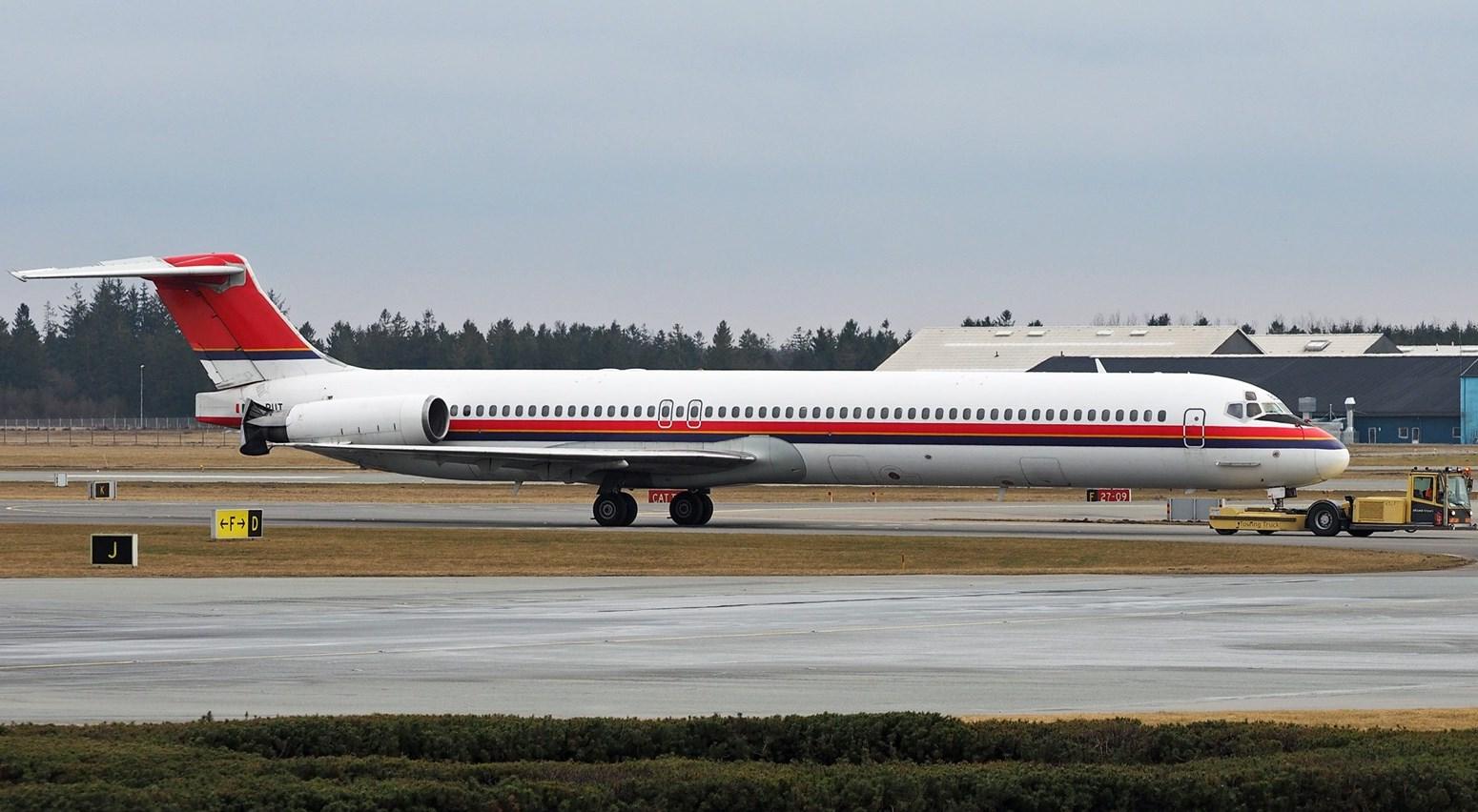 MD-82´eren OY-RUT fra Danish Air Transport. (Foto: Erik Gjørup Kristensen)