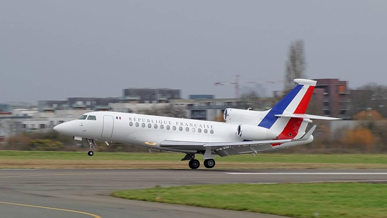 Dassault Falcon 7X er et af flere franske præsidentfly. (Foto: Wikiwand)