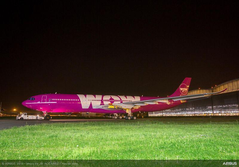 Første Airbus A330-900neo til WOW air. (Foto: Airbus   JB ACCARIEZ   master films)