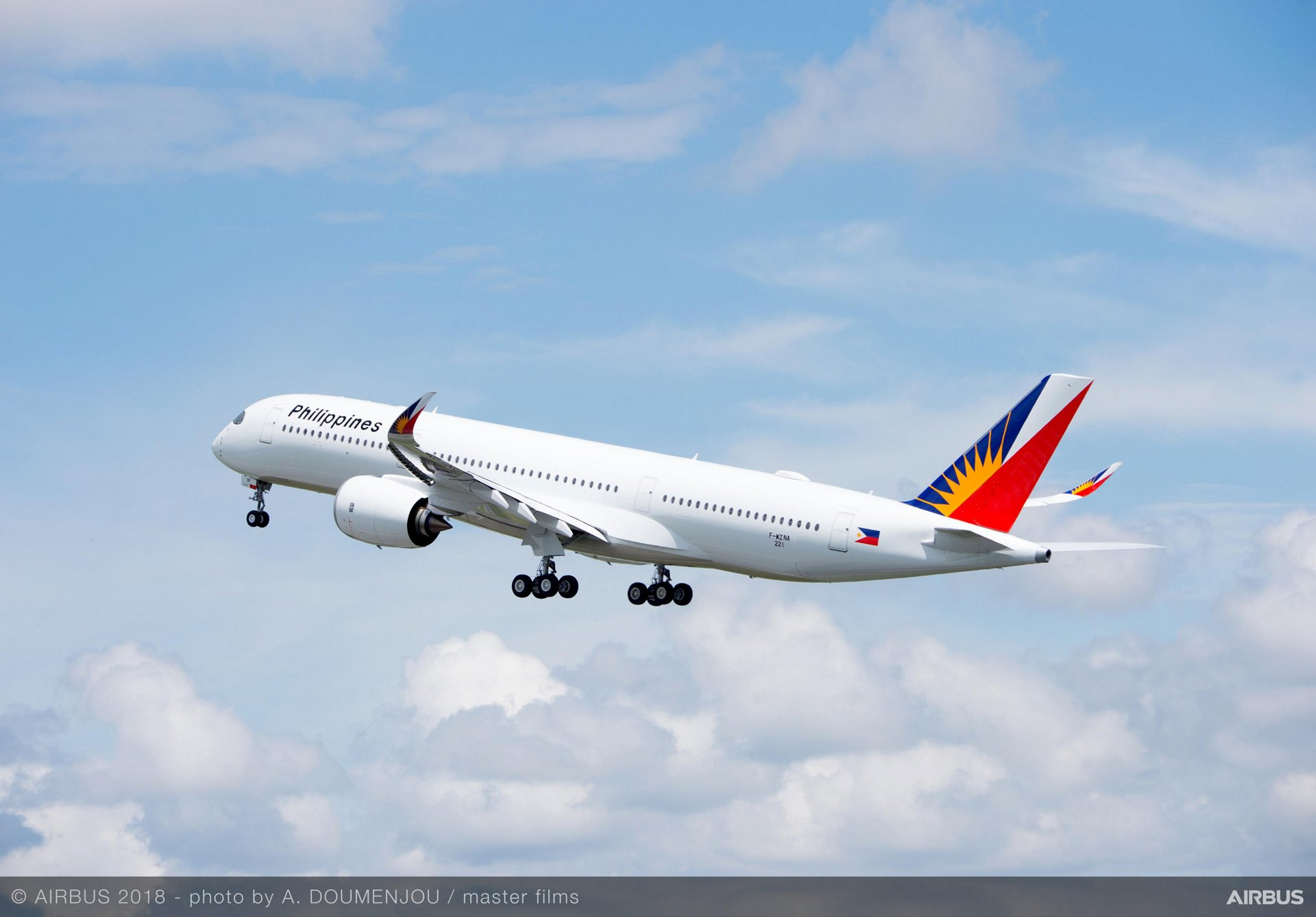 Airbus A350-900 fra Philippine Airlines (Foto: Airbus | A. Doumenjou | master films)