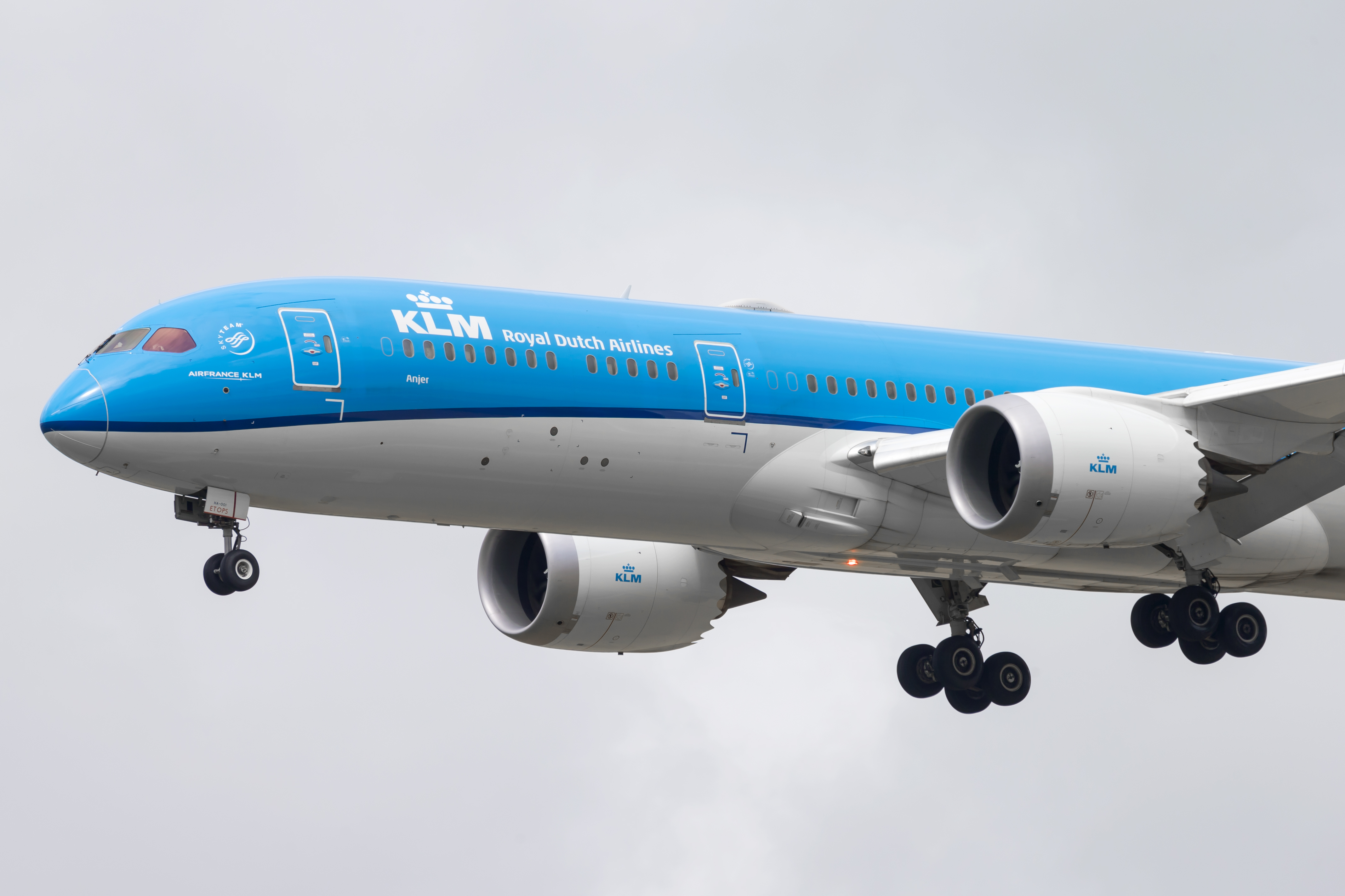 En Boeing 787-9 Dreamliner fra det hollandske flyselskab KLM. Foto: Thorbjørn Brunander Sund, Danish Aviation Photo