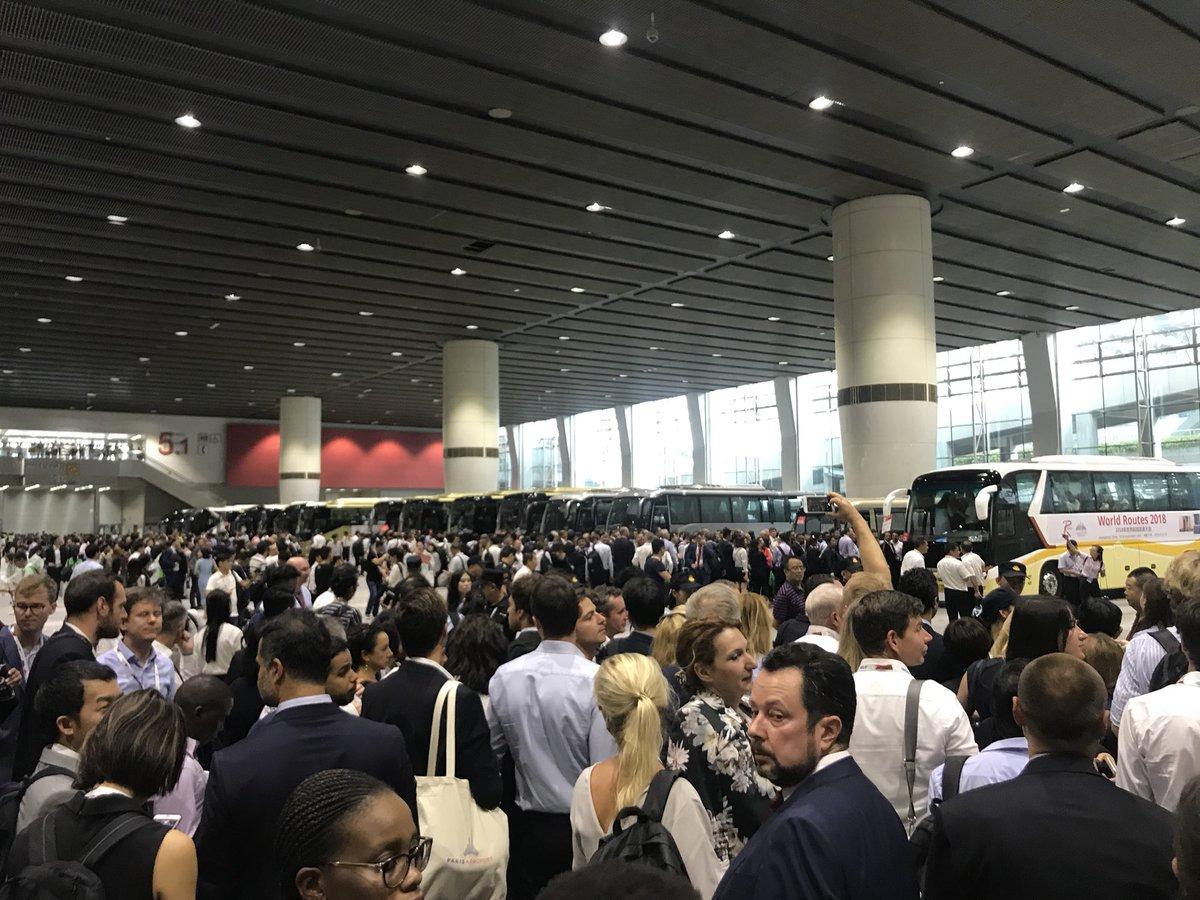 Evakuering af delegerede fra World Routes 2018 (Foto: Allan Kronborg Olesen, CPH)