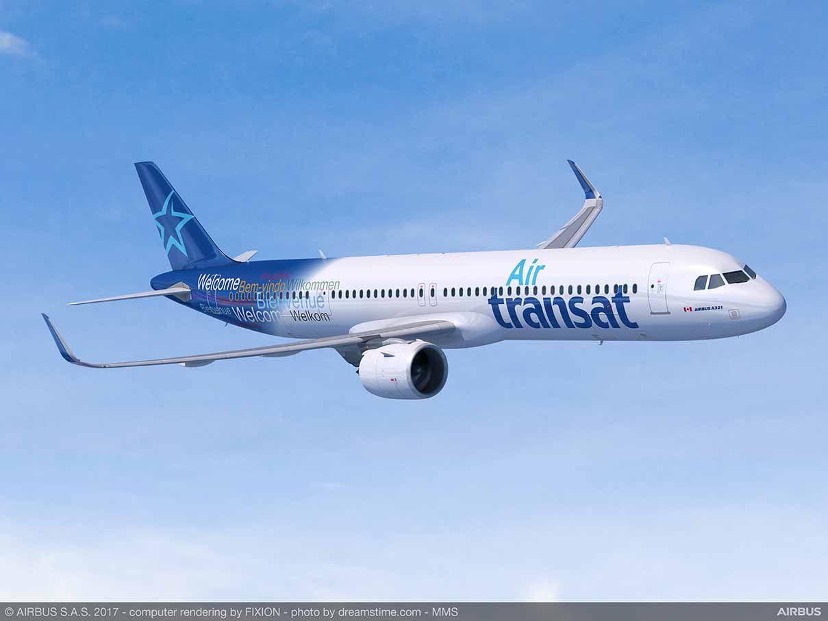 Det canadiske flyselskab Air Transat skal operere over Atlanterhavet med de nye Airbus A321neoLR, når de modtages i 2019. Foto: Airbus