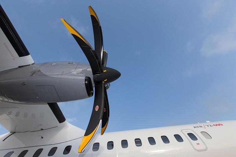 Højre propel på en ny ATR72-600. Foto: ATR