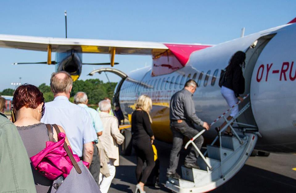 DAT-fly i Bornholms Lufthavn. (Foto: Bornholmerflyet.dk)