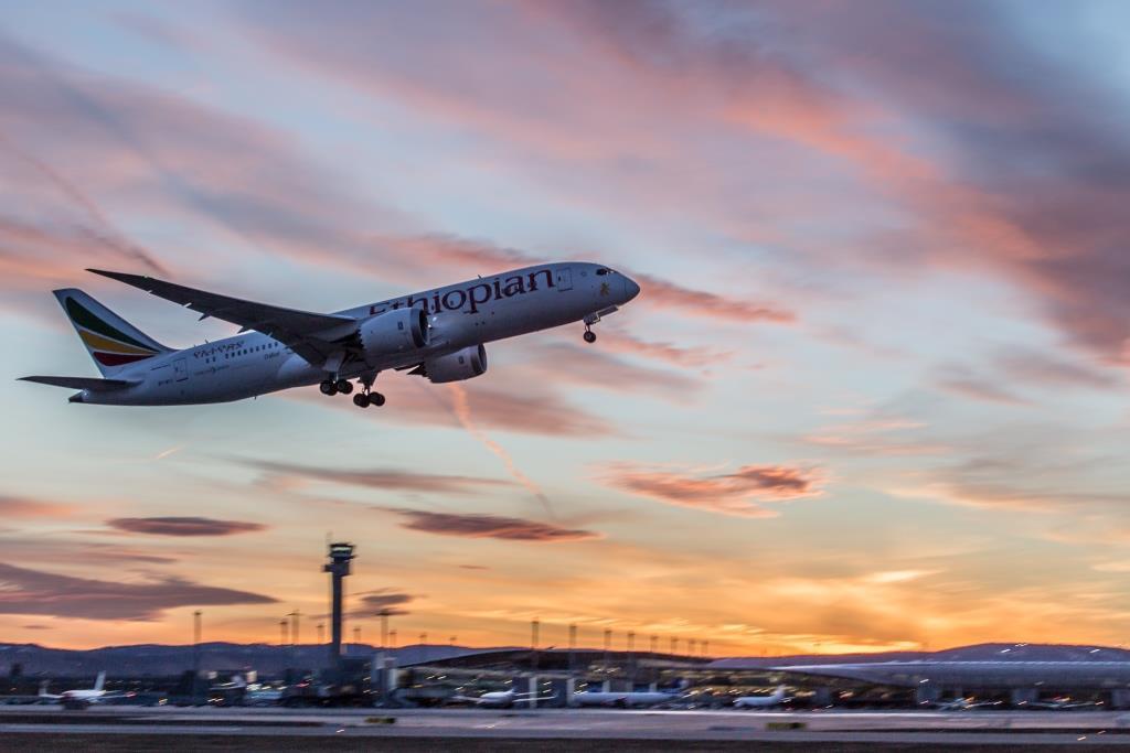 Ethiopian Airlines i Oslo Lufthavn. (Foto: Avinor)