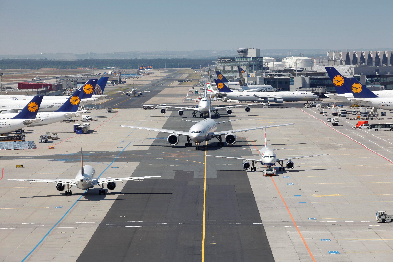 Rullevej i Frankfurt Lufthavn (Foto: Andreas Meinhardt | Fraport AG)