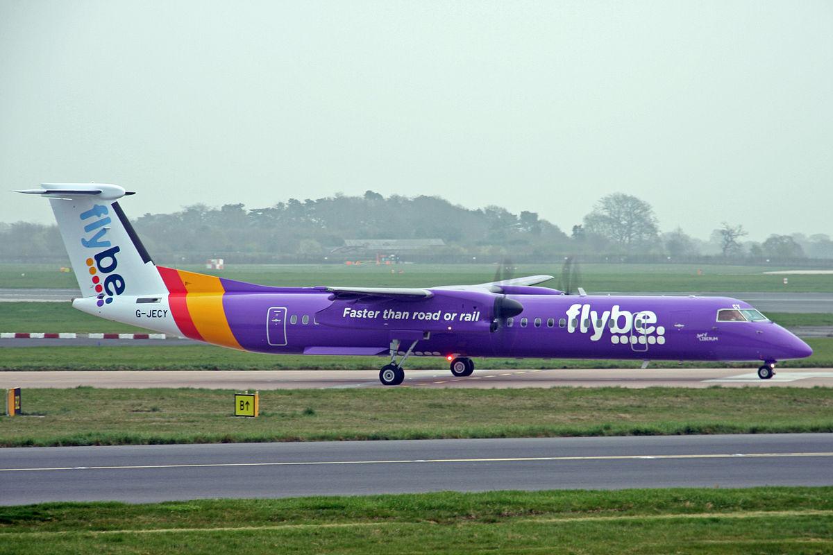 Flybe kommer næste år til at sige farvel til den lilla bemaling. (Foto: Ken Fielding | CC 3.0)
