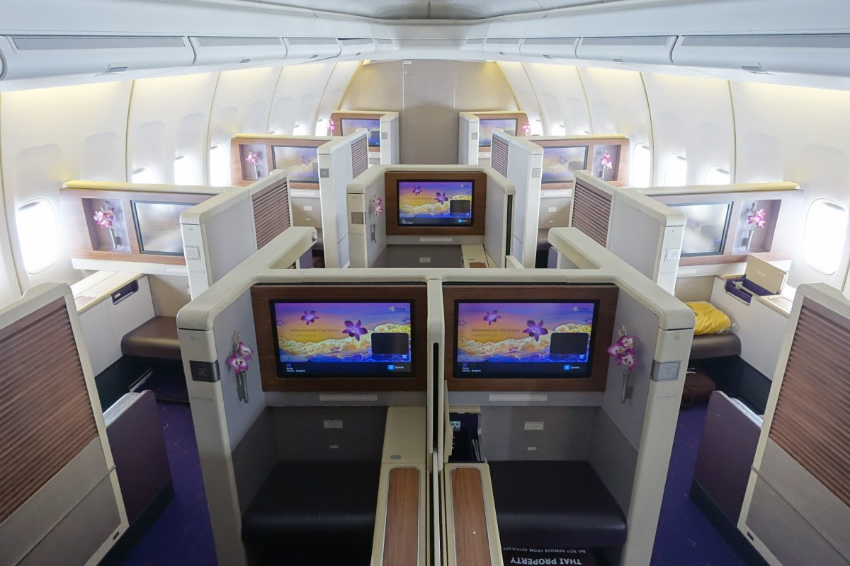 Royal First Class på Thai Airways Boeing 747-400. (Foto: Zach Honig)