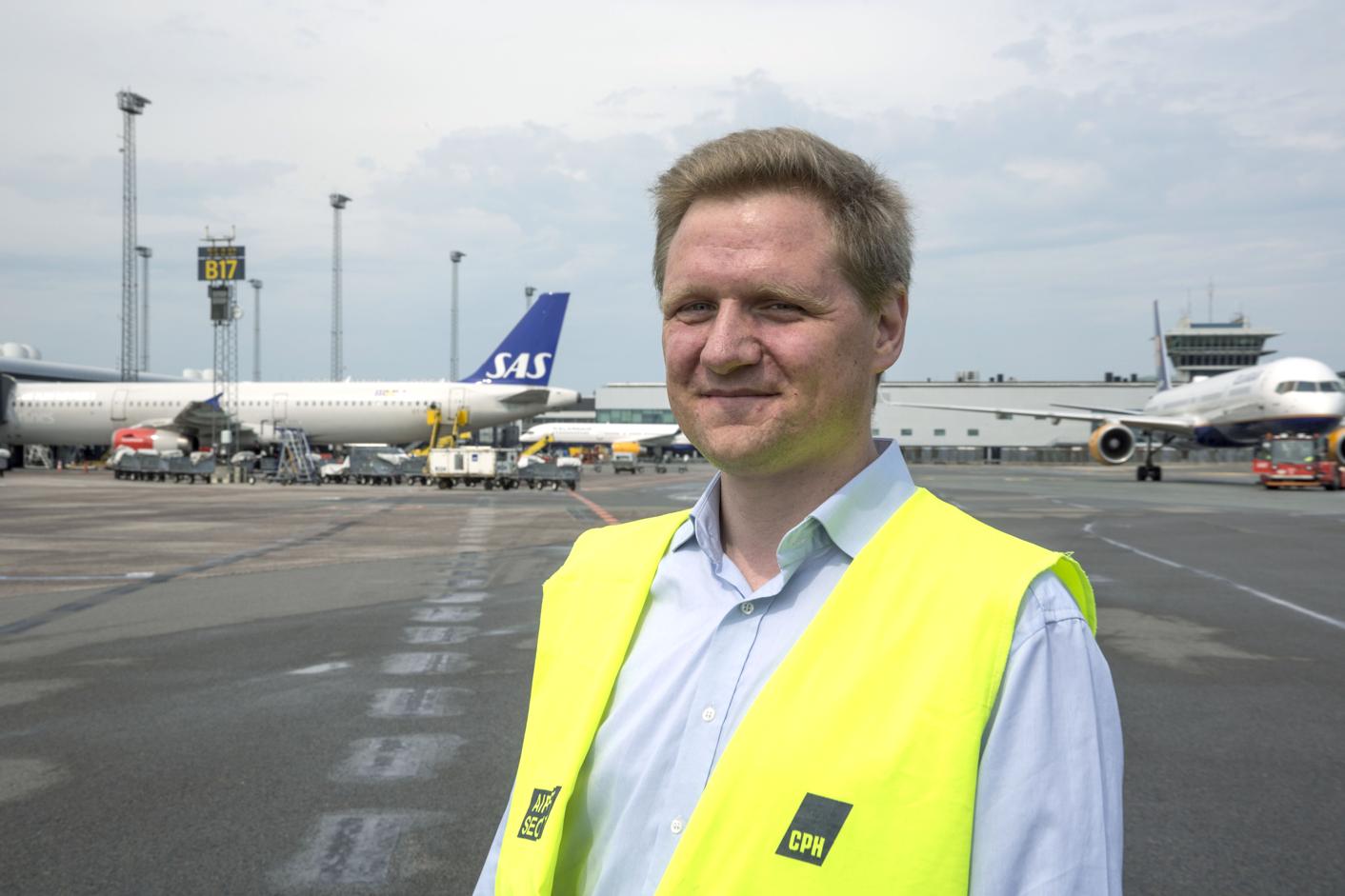 Kasper Hyllested, pressechef i Københavns Lufthavn (Foto: CPH)