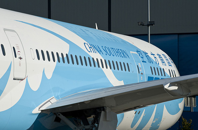 Boeing 787 Dreamliner fra China Southern Airlines. (Foto: Boeing/PR)