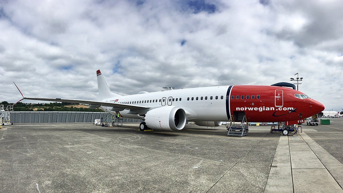 Boeing 737 MAX 8 fra Norwegian (Foto: Edward Russell | CC 2.0)