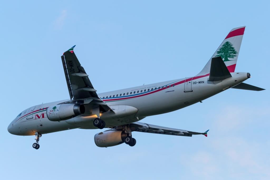 Airbus A320-200 fra Middle East Airlines. (Foto: © Thorbjørn Brunander Sund | Danish Aviation Photo)