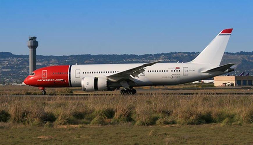 Norwegian Boeing 787 Dreamliner i Oakland International Airport. (Foto: Port of Oakland/PR)