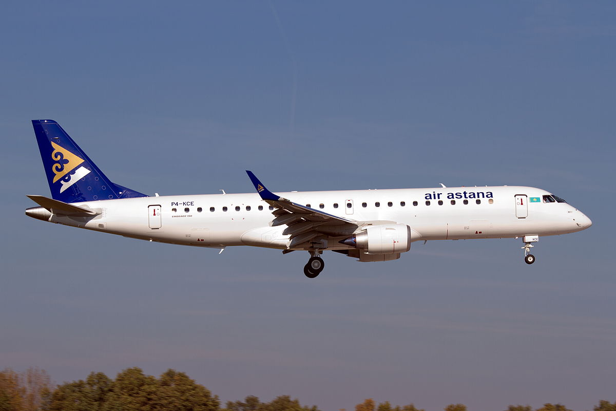 Embraer ERJ 195 fra Air Astana (Foto: Björn Strey | CC 2.0)