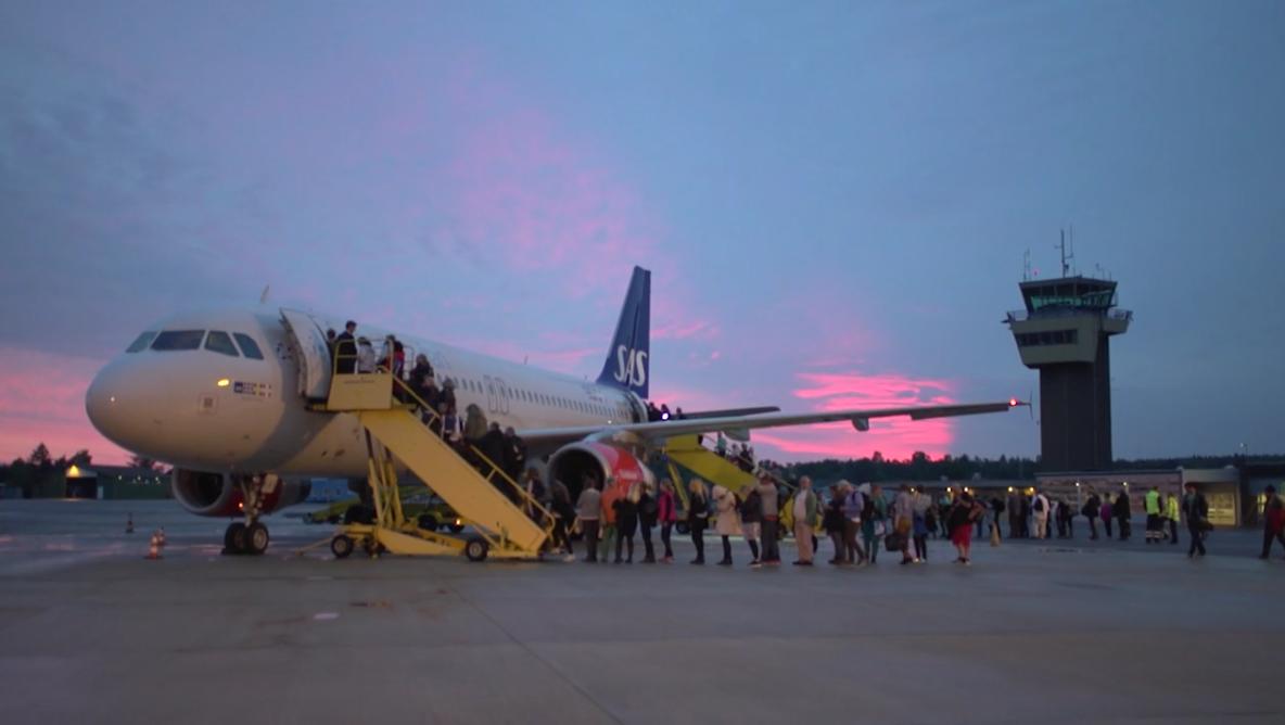 Folkeflyet fra SAS i Bornholms Lufthavn den 17. juni 2016. (Foto: PS Communication)