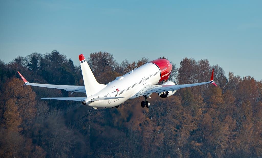 SE-RTA ved starten fra Boeing Field (Foto: Norwegian   Atle Straume)