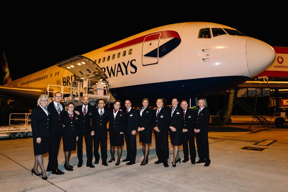 Sidste kommercielle flyvning med Boeing 767 hos British Airways. (Foto: Stuart Bailey www.StuartBaileyPhoto.com)
