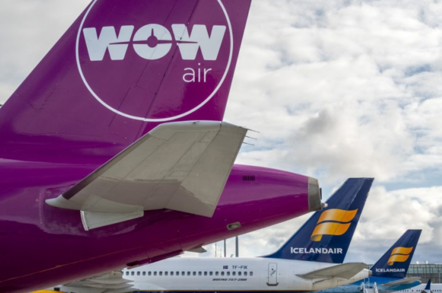 WOW air og Icelandair (Foto: Iceland Review | Golli)