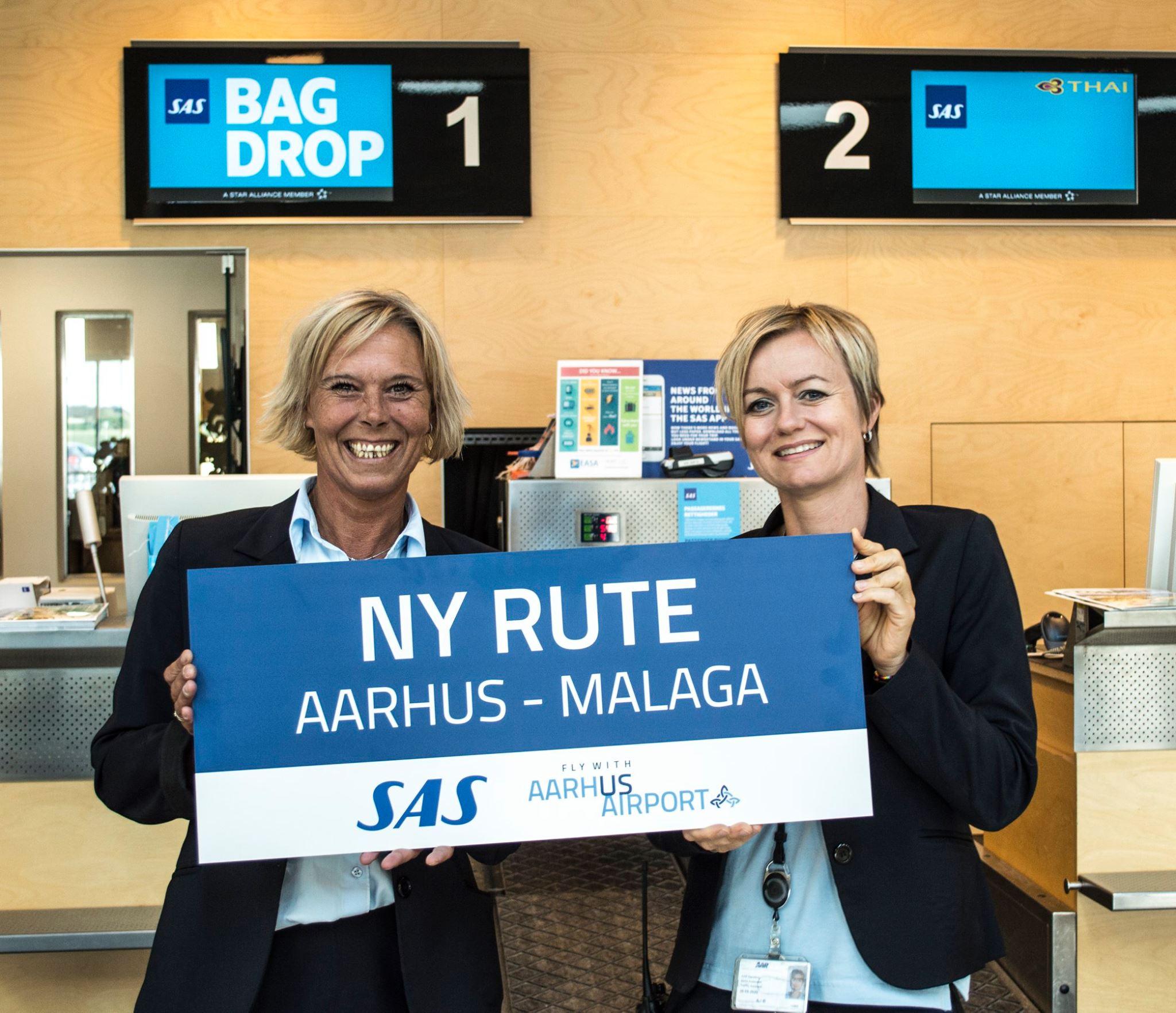 Aarhus Lufthavn fejrede åbningen af ny SAS-rute til Málaga (Foto: AAR/PR)