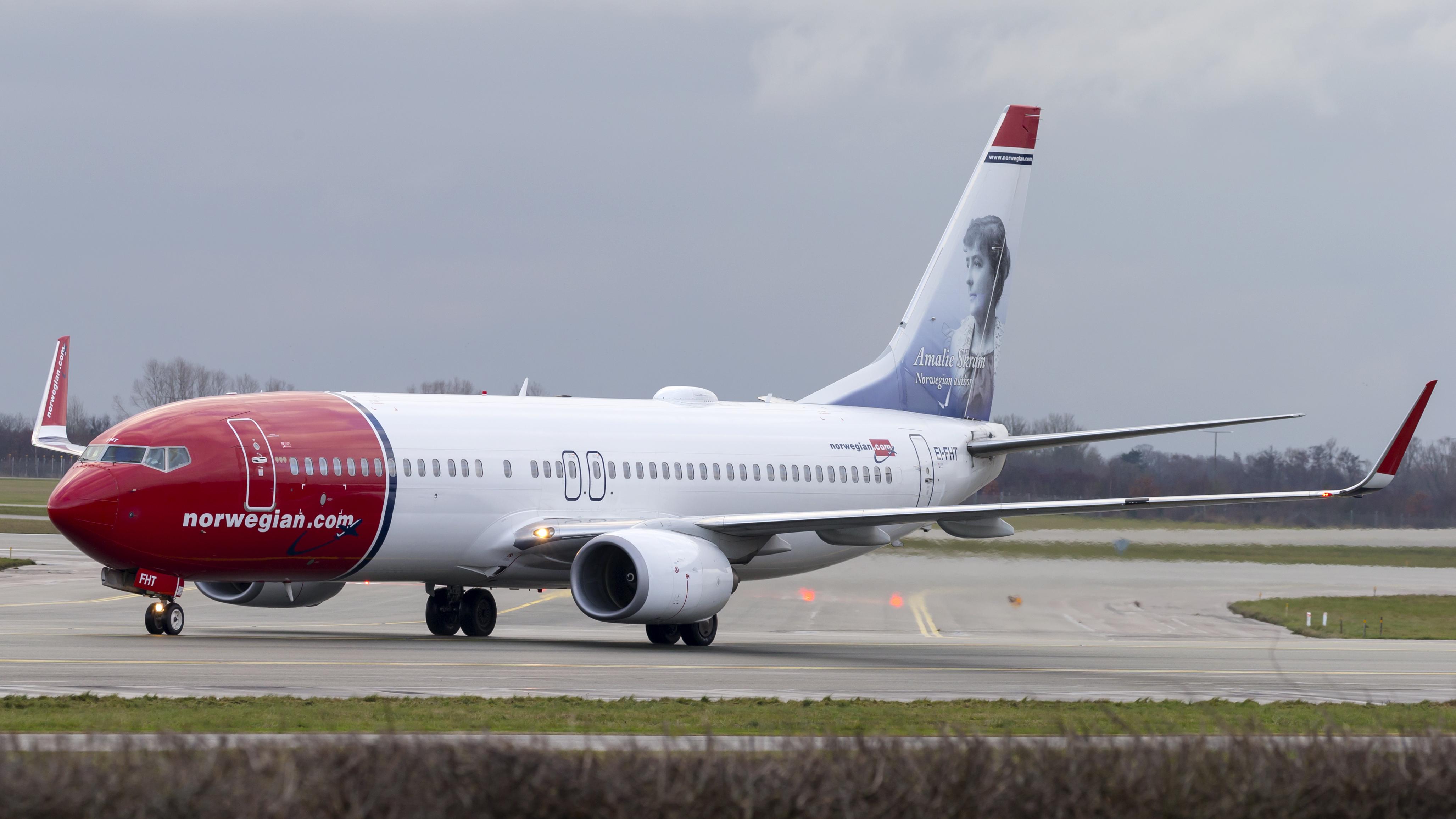 En Boeing 737-800 fra Norwegian. Foto: © Thorbjørn Brunander Sund, Danish Aviation Photo