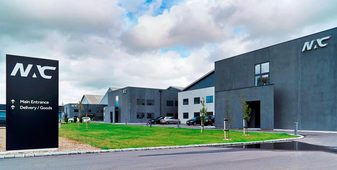 NAC-hovedkvarteret på Stratusvej i Billund. (Foto: NAC/PR)